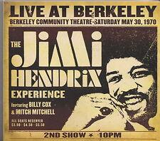 HENDRIX  CD DIGIPACK LIVE AT BERKELEY 2ND SHOW  EXPERIENCE HENDRIX 2003