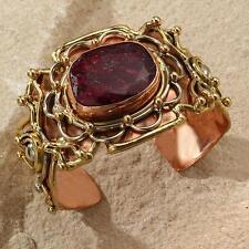 New Tara Mesa 53.16ctw Rough Ruby Textured Cuff Bracelet