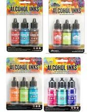 Lot of Tim Holtz Ranger ALCOHOL INK 12 bottles 4 - 3 pks (Lot 49i)