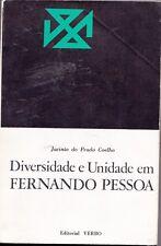 9789722203296 Diversidade E Unidade Em Fernado Pessoa - Jacinto Do Prado Coelho