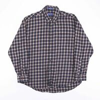 Vintage PENDLETON Blue Check Flannel Wool Mix Casual Shirt Size Men's XL