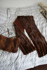 Vintage Hatifax Shawl Genuine Mink Fur Stole Wrap and Clutch muff Athens