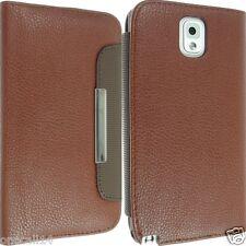 Para Samsung Galaxy Note 3 Iii N9000 Cuero Funda Protectora Flip Bolsa Slim posterior Skin