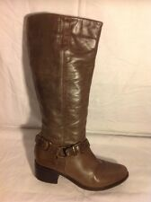 F&F Brown Knee High Leather Boots Size 3