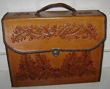 """Handmade Real Leather Briefcase Satchel Attache Suitcase 15 x 12 x 4""""  NEW!"""