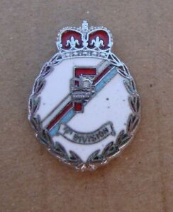 Merseyside Police F DIVISION tie tac pin badge BY JEEVES OF LIVERPOOL