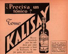 1931 AD  ARGENTINA  KALISAY TONIC QUINA DEL MUNDO