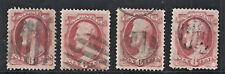 4x Sc 148 6c Rose Carmine With Black Bar Fancy Cancels Sound As Per Scan (NV44)