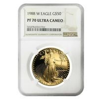 1988 W 1 oz $50 Proof Gold American Eagle NGC PF 70 UCAM