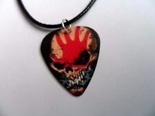 5FDP FIVE FINGER DEATH PUNCH Guitar Pick  //  Plectrum Leather Necklace  b