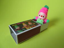 VINTAGE MINI BEAN DOLL MATCHBOX DOLL 80'S NEW PINK