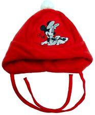 Neu! Disney Minnie Mouse Babymütze Mütze Fleecemütze Ohrenschützer 46- 9Monate