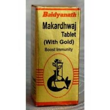 MAKARDHWAJ TABLET ( WITH GOLD ) BAIDYANATH FREE SHIPPING - 25 TABLETS