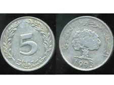 TUNISIE  5 millim  1993  ( bis )