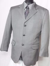 Men's Jones New York Gray Birds Eye 3 Button Silk Blend Sport Coat Size 40S