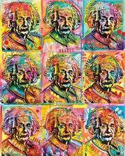 ALBERT EINSTEIN - RUSSO ART COLLAGE POSTER 24x30 - 10995