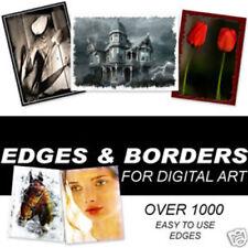 Over 1200 Borders, Edges, Frames, Overlay effects , photoshop cs,elements ect
