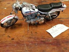 FRANKLIN MINT 1971 HARLEY DAVIDSON SUPERGLIDE FX WHITE 1/10 Very Nice!