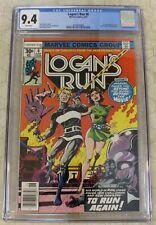 LOGAN'S RUN #6 CGC 9.4 1st Solo Thanos Story  !!