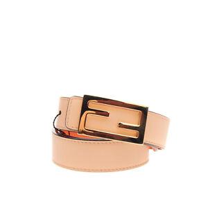 RRP €490 FENDI ROMA Leather Belt Size 80/32 Reversible Logo Blank Buckle Closure