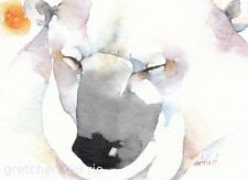 "ACEO Giclee PRINT watercolor 2.5"" x 3.5""  BEAR BLESSING totem spirit mystic"
