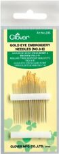 Clover Gold Eye Embroidery Needles No. 39