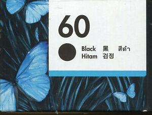HP 60 Black Inkjet Cartridge NEW genuine