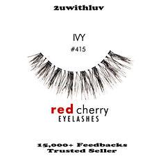5 X RED CHERRY 100% HUMAN HAIR BLACK FALSE EYE LASHES #415 BNIB