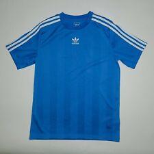 Adidas White 3 Stripe Blue Short Sleeve T-Shirt Kid's/Youth Size Extra Large XL