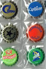 6 chapas de refrescos africanos no cerveza  cap Crown kronkorken
