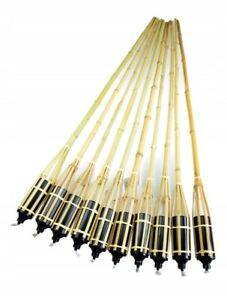 10 pcs Garden Bamboo 60 cm Torch Oil Light Flame Outdoor