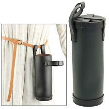 New listing Medieval Renaissance 100% Leather Wine Juice Bottle Case Holder Black