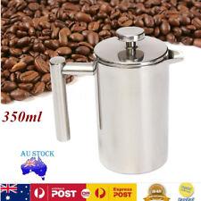 350ML Double Wall Stainless Steel Coffee Press Maker Mug Tea Pot Plunger Filter