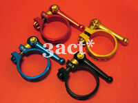 7075AL Seatpost Seat Clamp 34.9mm w/ Titanium Bolt 23g - Red, Gold, Blue, Black