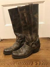 Frye Boots Harness 15R womens size 9 very lightly used weathered brown