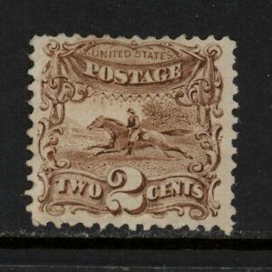SCOTT 113 1869 2 CENT HORSE & RIDER REGULAR ISSUE MH OG F-VF CAT $310!