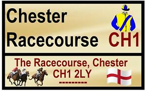 HORSE RACING ROAD SIGNS (CHESTER) - FUN SOUVENIR NOVELTY FRIDGE MAGNET - GIFTS