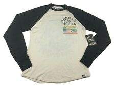 Roots Of Fight Ali Frazier Manilla Long Sleeve Raglan Shirt Men's Small-2XL