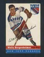 1954-55 Topps #22 Wally Hergesheimer VGEX NY Rangers 108187