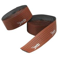 Bicycle Handlebar Bar Tape Deda Elementi Leather Look Brown with End Caps