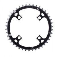 Origin8 Alloy Ramped Chainrings 46T Ramped/Pinned 104mm 4-bolt Black/Silver