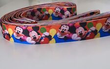 Yard Disney Mickey Minnie Mouse GROS Grain Nastro Childrens Carattere