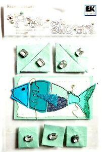 BLUE WATERS Fish - Rebecca Sower Fresh Stickers Scrapbooking Cardmaking Crafts