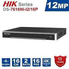 Hikvision NVR 4K DS-7616NI-I2/16P Supports 12MP cameras and 20TB+
