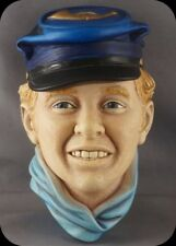 Bossons Head Drummer Boy Chalkware Wall Sculpture Plaque RARE