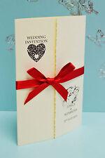 50 PERSONALISED WEDDING INVITATIONS GATEFOLD *FREE P/P*