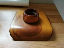 hand crafted wooden inkwell