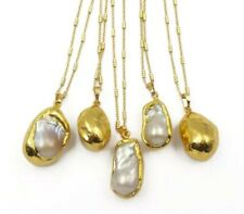 Gold Plated Large Freshwater Pearl Statement Necklace Other Bloggers Stories...