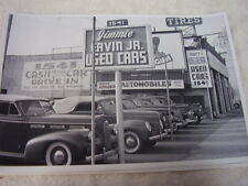 1940 'S USED CAR LOT FORD PACKARD CHEVROLET   12 X 18 LARGE PICTURE  PHOTO