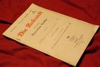 DIE ZUKUNFT MAXIMILIAN HARDEN ORIGINAL 37 BERLIN JUNE 1919 THE FUTURE GERMAN WAR